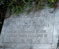 Tombstone of Jais Bensaude